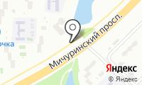 Автостоянка на ул. Мичуринский проспект на карте