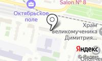 На Берзарина на карте