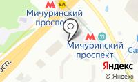Автостоянка на Мичуринском проспект на карте