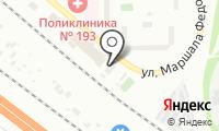 Шиномонтажная мастерская на Маршала Федоренко на карте