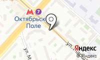 Станция Октябрьское поле на карте