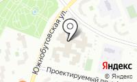 Южное Бутово на карте