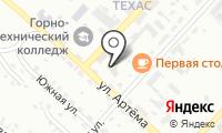 Почтовое отделение ГУБКИН 2 на карте