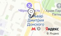 Станция Бульвар Дмитрия Донского на карте