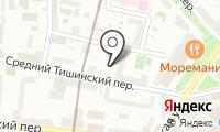 Автостоянка на Малом Тишинском переулке на карте