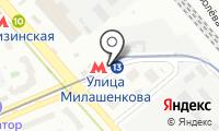 Станция монорельса Улица Милашенкова на карте