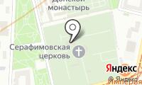 Донское кладбище на карте