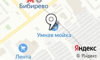 Автостоянка на Бибиревской на карте