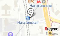 Станция Нагатинская на карте