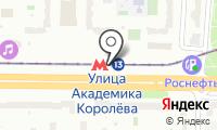 Станция монорельса Улица Академика Королёва на карте