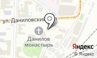 Храм Серафима Саровского в Даниловском монастыре на карте