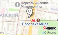 Спорт-бар на проспекте Мира на карте