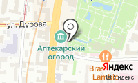 Аптекарский огород на карте