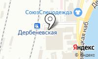 Юнивер на карте