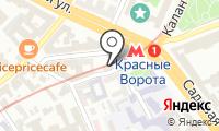 Станция Красные ворота на карте
