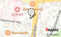 Московский театр русской драмы под руководством Михаила Щепенко на карте
