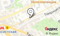 Таганское на карте