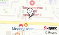 Медведковский на карте