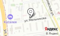 Автостоянка на Мельникова на карте