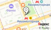 Станция Авиамоторная на карте
