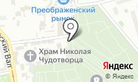 Преображенское кладбище на карте