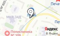Автостоянка на Гурьянова на карте