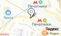 Магазин фруктов и овощей на Гурьянова на карте