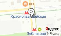 Станция Зябликово на карте
