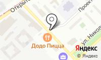 Шиномонтажная мастерская на Николая Химушина на карте