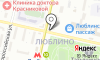 Станция Люблино на карте