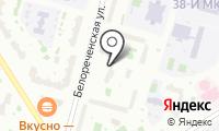 Белореченская на карте