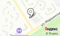 Автостоянка на Марьинском парке на карте