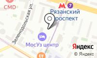 Магазин цветов на Новокузьминской 1-й на карте
