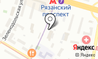 Церковная лавка на Новокузьминской 1-й на карте