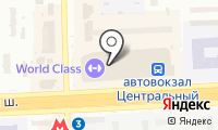 Московский междугородный автовокзал на карте