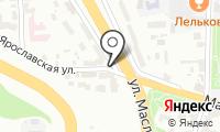 Указатель системы городского ориентирования №5451 по ул.Ярославская на карте