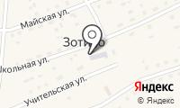 Почтовое отделение ЗОТИНО на карте