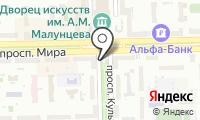 Почтовое отделение ОМСК 29 на карте