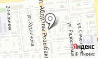 Управление по делам обороны Бостандыкского района на карте