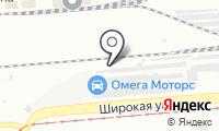 СТО на Широкой на карте