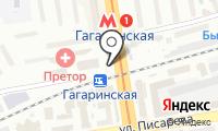 Станция Гагаринская на карте