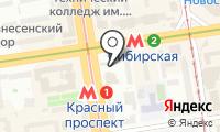 Станция Красный проспект на карте
