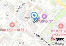 Компания «Актив38» на карте