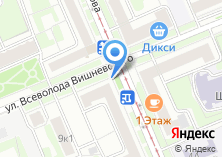 Компания «Магазин фруктов и овощей на ул. Всеволода Вишневского» на карте