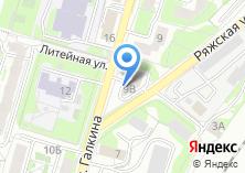 Компания «Строящееся административное здание по ул. Галкина» на карте