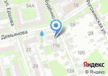 Компания «Строящееся административное здание по ул. Буденного» на карте