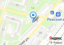 Компания «Автостоянка на Ряжской» на карте