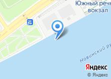 Компания «Южный речной вокзал» на карте