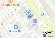 Компания «X-Fit» на карте