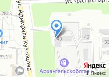 Компания «Архангельскоблгаз» на карте